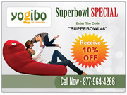 Super Bowl special offer at Yogibo