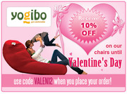 Valentine's Day New Age Bean Bags offer at Yogibo