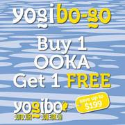 Buy 1 Get 1 Sale on Bean Bags at Yogibo stores