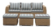 Mega Sale – All Weather Wicker Sofa With Ottomans